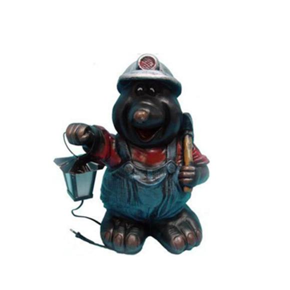 Lampen Beleuchtung Maulwurf Garten Deko Figur Statue Skulptur Figuren Dekoration