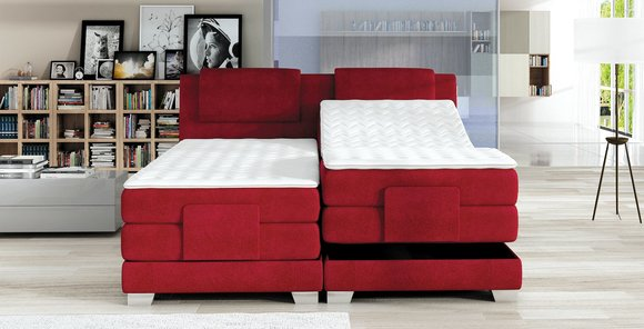 boxspringbett design bett topper federkern doppelbett polsterbett elektrisch wave www jvmoebel. Black Bedroom Furniture Sets. Home Design Ideas