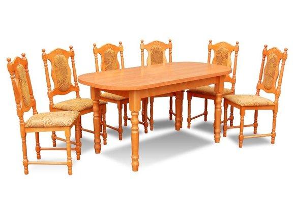 essgruppe mit tisch und st hlen wie esszimmerset z24 von jv m bel. Black Bedroom Furniture Sets. Home Design Ideas