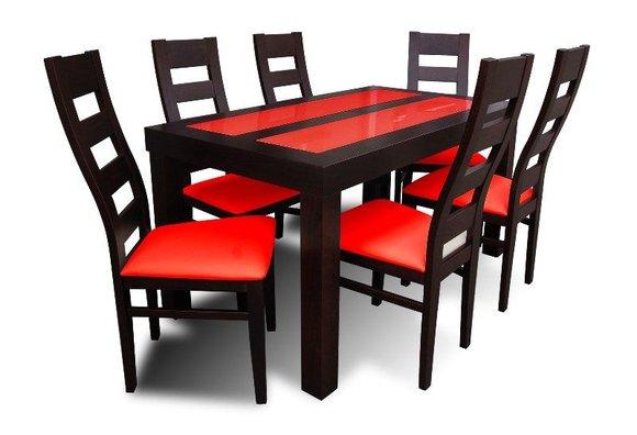 essgruppe mit tisch und st hlen wie esszimmerset z32 von jv m bel. Black Bedroom Furniture Sets. Home Design Ideas