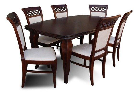 essgruppe mit tisch und st hlen wie esszimmerset z33 von jv m bel. Black Bedroom Furniture Sets. Home Design Ideas