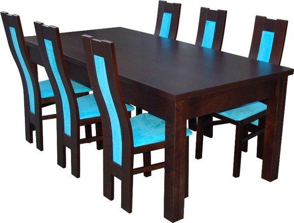 essgruppe mit tisch und st hlen wie esszimmerset z41 von jv m bel. Black Bedroom Furniture Sets. Home Design Ideas