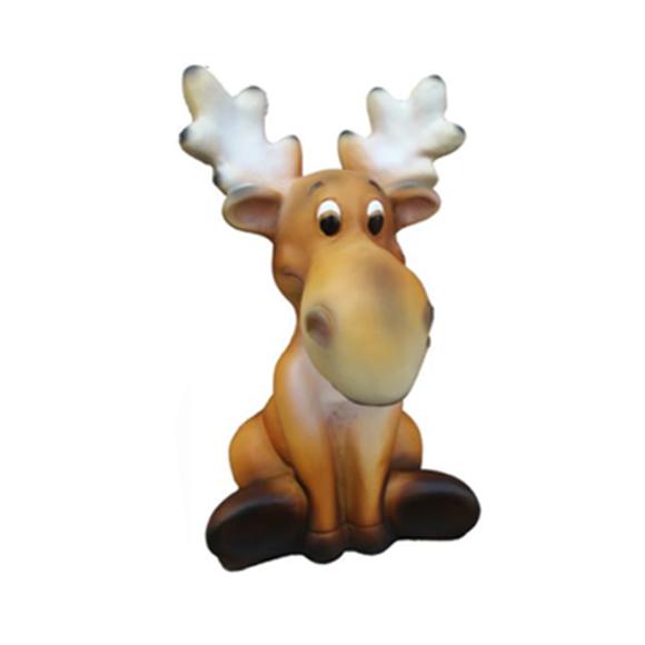 Hirsch Rentier Deko Tier Figur Winterdeko Höhe 34 cm Elch Dekoration Figuren Neu