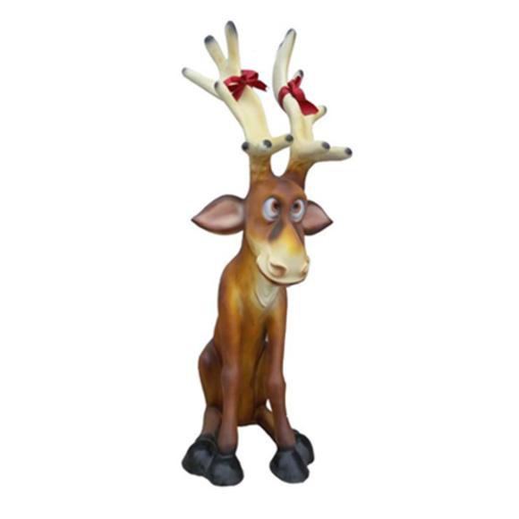 Weichnachten Rudolf Renntier Figur Statue Weihnachtsmann Figuren Dekoration XXL
