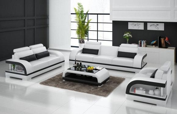 Ledersofa 321 Sitzer Couch Garnitur Designersofa Polstergarnitur
