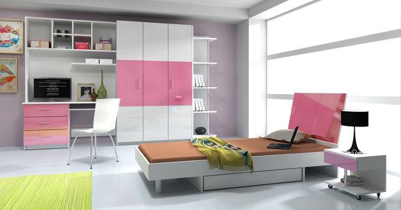 komplettes kinderzimmer jugendzimmer 7 teiliges hochglanz set. Black Bedroom Furniture Sets. Home Design Ideas