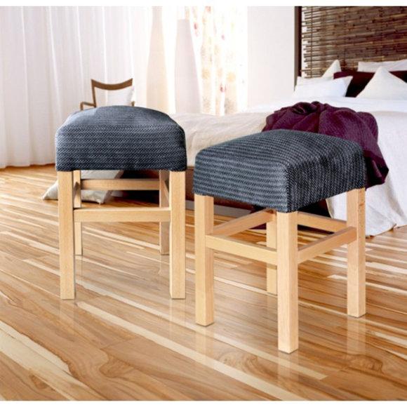 Hocker Stuhl Küchen Dielen Stuhl Stühle Bar Sessel Sitz Echtholz Naturholz MORIS