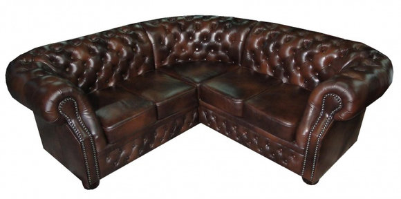 Chesterfield ecksofa  JVmoebel - Ledersofa Ecksofa CHESTERFIELD SOFA OXFORD I (ST)