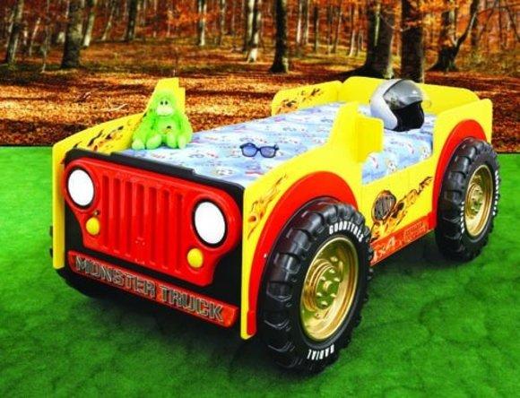 Kinderbett auto  Kinderbett mit Matratze Auto Betten Lastwagen Monster Truck