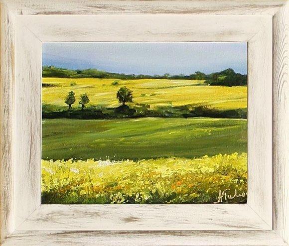 Gemälde Natur Handarbeit Ölbild Bild Ölbilder Rahmen Bilder G15592