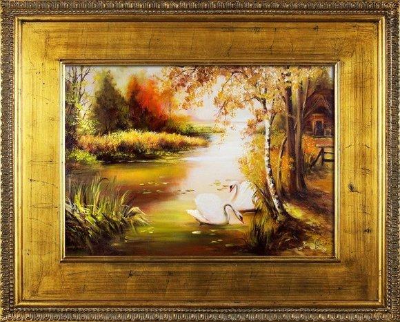 Gemälde Natur Handarbeit Ölbild Bild Ölbilder Rahmen Bilder G16672