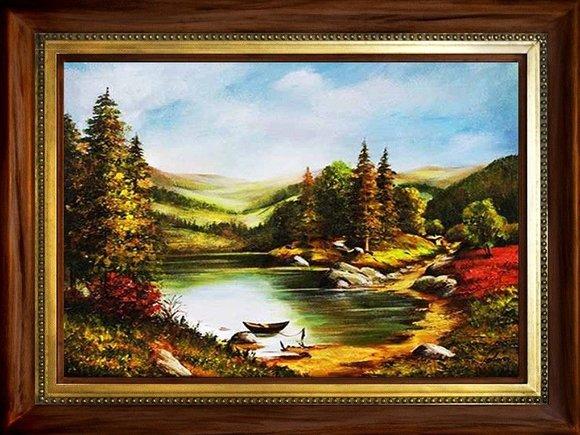Gemälde Natur Handarbeit Ölbild Bild Ölbilder Rahmen Bilder G94037