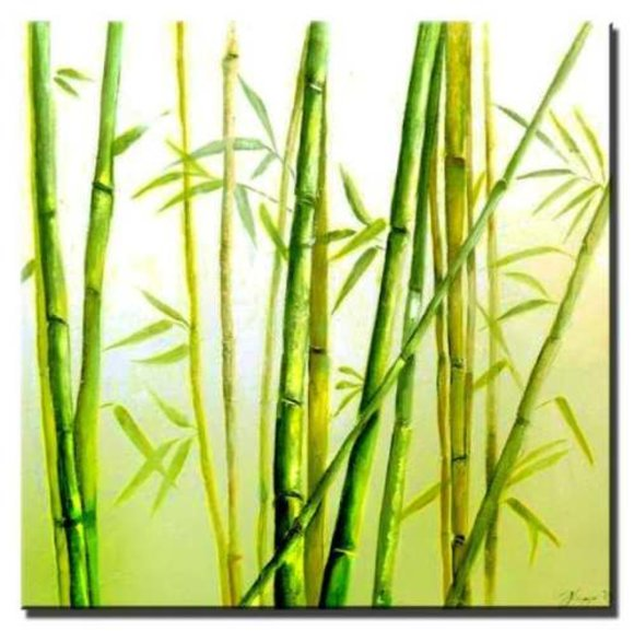 Gemälde Ölbild Bild Ölbilder Rahmen Bilder Handarbeit Japan Feng Shui G01637