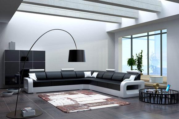 Designer eckcouch  www.JVmoebel.de - la design... Möbel | Ledersofa | Sofa