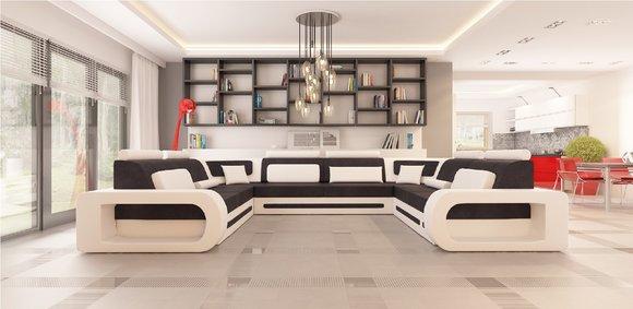 sofas und ledersofas stuttgart 4 bettfunktion designersofa ecksofa jv m bel. Black Bedroom Furniture Sets. Home Design Ideas