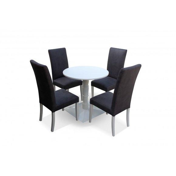 4x Stuhl Stühle Polster Textil Stoff Garnitur Set Komplett Designer Lehnstuhl
