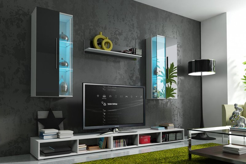wohnw nde sofort lieferbar anbauwand ab lager bei jvmoebel. Black Bedroom Furniture Sets. Home Design Ideas
