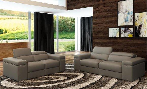 Verstellbare Ledercouch Sitz Polster Wohnzimmer Set Leder Garnitur Sofa  Couch