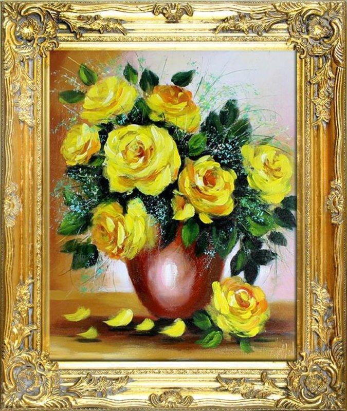 Ölgemälde Barock Bild Bilder Gemälde Ölbilder Ölbild Bilderrahmen Rahmen G00366