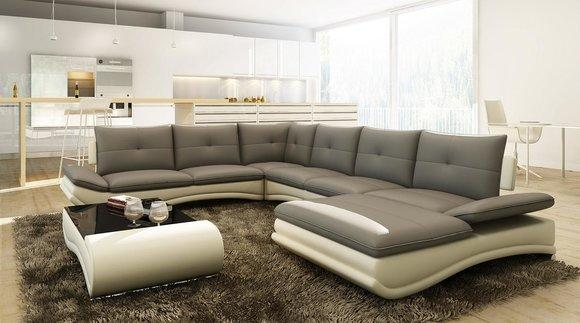 sofas couches ledersofas u form wohnlandschaft la design. Black Bedroom Furniture Sets. Home Design Ideas