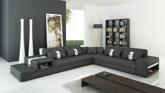 Designer Leder Wohnlandschaften Gunstig Kaufen