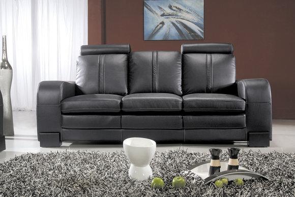 echt ledersofa ledercouch garnitur g nstig kaufen. Black Bedroom Furniture Sets. Home Design Ideas