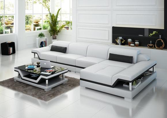 designer leder wohnlandschaften g nstig kaufen. Black Bedroom Furniture Sets. Home Design Ideas