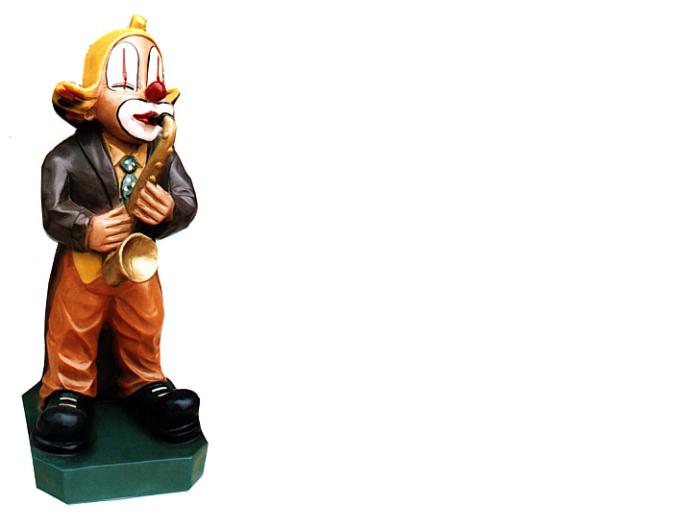 Wanddeko Clown mit Trompete