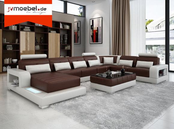sofas couches ledersofas u form wohnlandschaft la design m bel. Black Bedroom Furniture Sets. Home Design Ideas