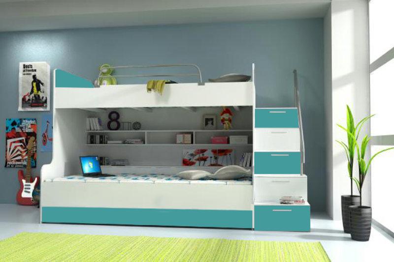 Etagenbett Mit Schubladen Treppe : Doppelstockbett stockbett bett doppelbett etagenbett betten b