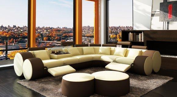 design wohnlandschaften leder designer sofa. Black Bedroom Furniture Sets. Home Design Ideas