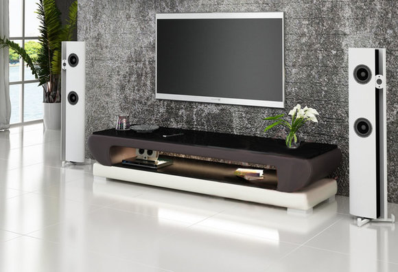 rtv tv sideboard leder glas tisch fernseh schrank tisch designer neu glas 403. Black Bedroom Furniture Sets. Home Design Ideas