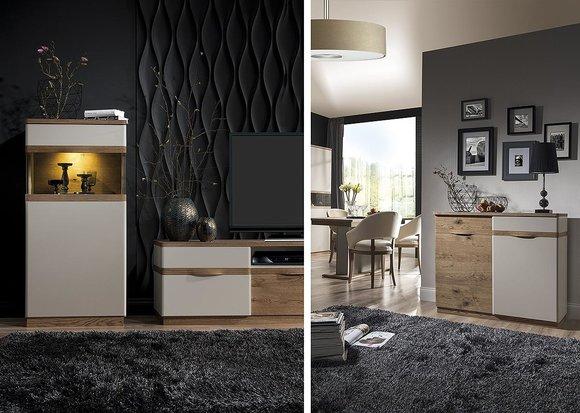 Klassische m bel im italienischen stil in massivholz comocm p1polka - Klassische wohnwand ...