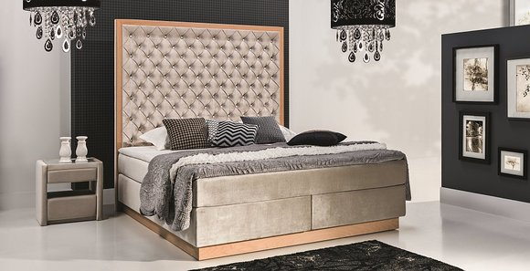 boxspring bett modernes design und klassische betten g nstig bei. Black Bedroom Furniture Sets. Home Design Ideas