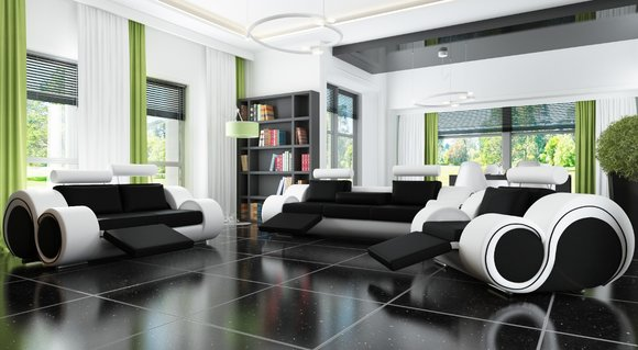 ledersofa mit relaxfunktion sofagarnitur 3 2 1 sitzer. Black Bedroom Furniture Sets. Home Design Ideas