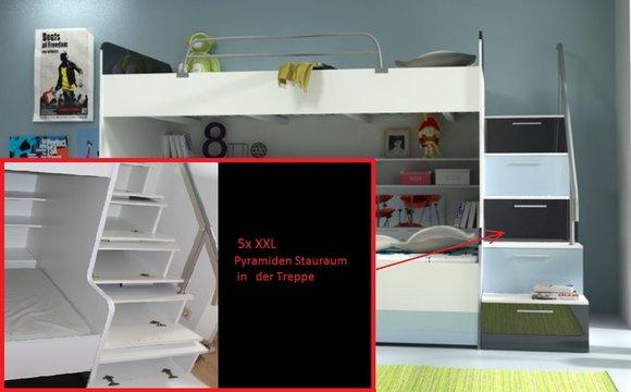 Etagenbett Mit Viel Stauraum : Doppelstockbett stockbett bett doppelbett etagenbett betten b
