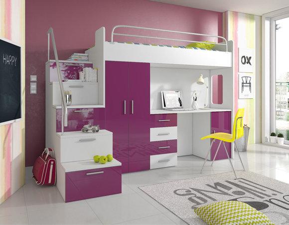 Etagenbett Mit Schrank Und Schreibtisch : Doppelstockbett stockbett bett etagenbett mit schreibtisch