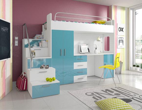 Etagenbett Mit Sofa : Doppelstockbett stockbett bett etagenbett mit schreibtisch