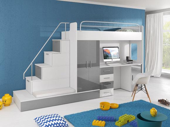 Etagenbetten Design : Sleep design massives kiefern etagenbett oscar einzel und