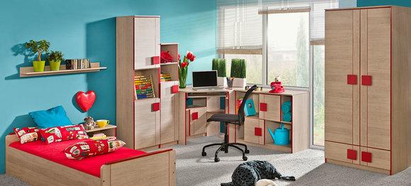 jugendzimmer kinderzimmer schrank mit schreibtisch b ro schrankwand. Black Bedroom Furniture Sets. Home Design Ideas