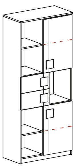 jugendzimmer kinderzimmer schrank mit schreibtisch schrankwand eiche b ro neu. Black Bedroom Furniture Sets. Home Design Ideas