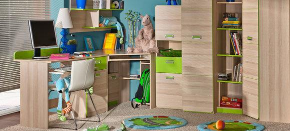 Wohnwand anbauwand schrankwand kinderzimmer jugendzimmer for Jugendzimmer schrankwand
