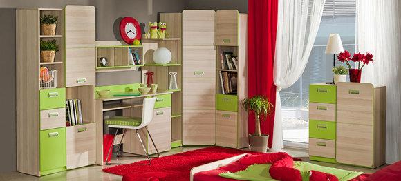 wohnwand schrankwand eck schrank kinderzimmer schreibtisch jugendzimmer neu 11 www jvmoebel. Black Bedroom Furniture Sets. Home Design Ideas
