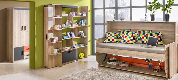 Wandregal Hängeregal Lounge Bücherregal Bücher Kinderzimmer Regal Holz  retro NEU U12