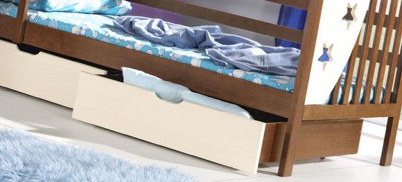 doppelbett kinderbett jugendbett bettkasten bett kiefer 2 x betten hochbett jacek www. Black Bedroom Furniture Sets. Home Design Ideas