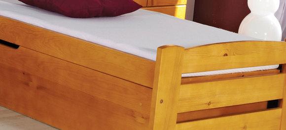 kinderbett jugendbett bettkasten bett kiefer kinderzimmer betten neu lolek. Black Bedroom Furniture Sets. Home Design Ideas
