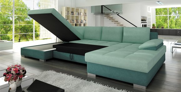 wohnlandschaft xxl couch sofa mit bettfunktion bettkasten schlafsofa garnitur nelly maxi www. Black Bedroom Furniture Sets. Home Design Ideas