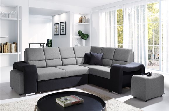sofas ledersofa wakiki mit bettfunktion bettkasten ecksofa schlaffunktion. Black Bedroom Furniture Sets. Home Design Ideas