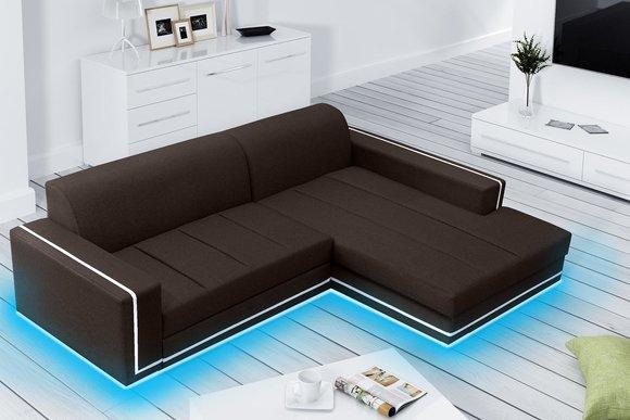 sofas ledersofa martin mit bettfunktion bettkasten ecksofa schlaffunktion. Black Bedroom Furniture Sets. Home Design Ideas