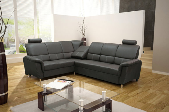 sofas ledersofa diana mit bettfunktion bettkasten ecksofa schlaffunktion. Black Bedroom Furniture Sets. Home Design Ideas